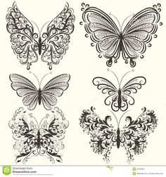 clipart filagree butterfly - Google Search