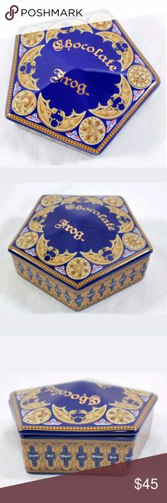 "Harry Potter~Chocolate Frog Trinket Ceramic Box Exclusive Chocolate Frog trinket Box from  The Wizarding World of Harry Potter | Universal Studios -Honeydukes   Brand new   Ceramic trinket box with removable lid  Measures 5"" x 5"" x 2""   A must have for the Chocolate frog collectors  Authentic Merchandise PRICE IS FIRM,  SORRY NO OFFERS WILL BE ACCEPTED   All sales are final, Thank you  Universal Studios Other"