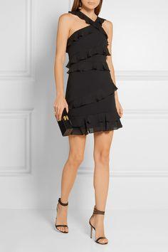 Cushnie et Ochs | Isodora ruffled crepe mini dress | NET-A-PORTER.COM