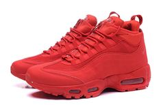 1810567afbf Nike Air Max 95 Hyp Prm 20 Anniversary Mid Bright Crimson Red X Sneaker  Sneaker
