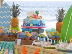 Surfin' Safari Surf themed birthday party via Kara's Party Ideas | KarasPartyIdeas.com #surfparty (20)