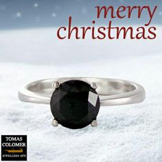 Ring | Anell | Anillo Merry Christmas, Jewels, Rings, Engagement Ring Solitaire, Wedding Rings, White Gold, Black, Merry Little Christmas, Happy Merry Christmas