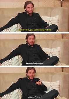 Being incredibly cute and funny and adorably European in an interview. Rush Movie, Daniel Bruhl, Cute Nerd, Gaspard Ulliel, Sexy Men, Sexy Guys, Supernatural Funny, Luke Evans, Marvel Actors