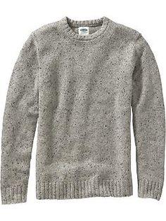 Men's Wool-Blend Crew-Neck Sweaters | Old Navy