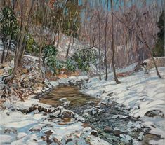 Edward Willis Redfield (1869-1965). Woodland Brook. Oil on canvas.127 x 142.2 cm. Painted circa 1914 - Эдвард Уиллис Редфилд (1869-1965). Лесной ручей.