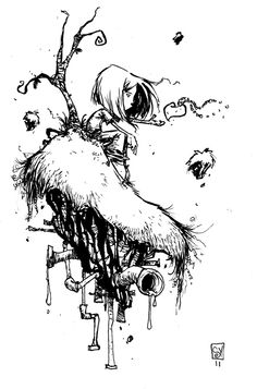 Skottie Young Creed, in Mike Carithers's Original Comic Art Comic Art Gallery Room Illustrations, Illustration Art, Art Sketches, Art Drawings, Sketch Manga, Graffiti, Graphic Novel Art, Young Art, Quelques Photos