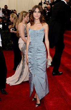 Fabulously Spotted: Alexa Chung Wearing Nina Ricci - 2014 Met Gala - http://www.becauseiamfabulous.com/2014/05/alexa-chung-wearing-nina-ricci-2014-met-gala/