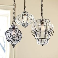 Marrakesh Gourd Pendant | European-Inspired Home Decor | Ballard Designs. Love them.