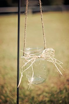 Set of 8 Hanging Mason Jars  Rustic Wedding by CountryBarnBabe, $36.00