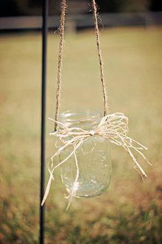 Set of 20 Hanging Mason Jars  Rustic Wedding por CountryBarnBabe