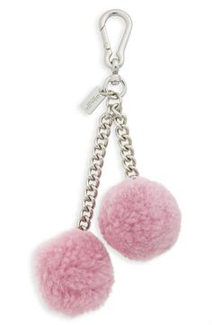 COACH Pompom Genuine Shearling Bag Charm available at #Nordstrom