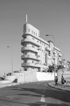 """In the German-Jewish architects fled to Israel's Mediterranean coast and created """"White City,"""" where the largest concentration of Bauhaus buildings can be found. Movement In Architecture, Classical Architecture, Architecture Design, Bauhaus Architecture, Landscape Architecture, Tel Aviv, Bauhaus Building, Old Abandoned Houses, Walter Gropius"""