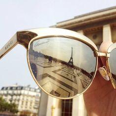 The Eiffel Tower via GUCCI shades  =