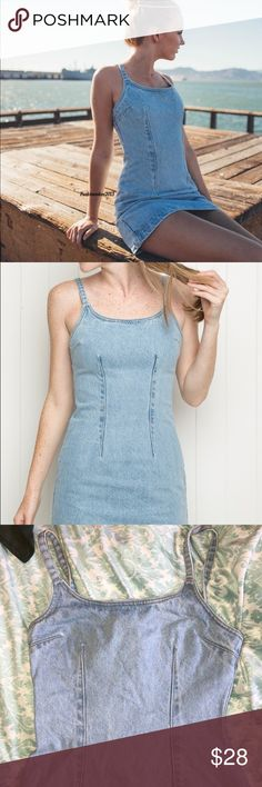 Brandy Melville NWT Denim Dress (worn once) Super cute brandy denim dress! Super difficult to find in good condition! Only worn once! (Will iron before shipping, it's been folded in my closet!!!) ❤️ Brandy Melville Dresses Mini