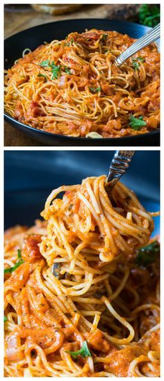 Spicy Tomato Cream Pasta - quick and easy to make for a weeknight meal!