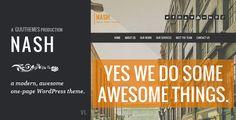 NASH - Responsive HTML5 One Page WordPress Theme - ThemeForest Item for Sale