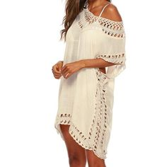 Brand Name: SfitPattern Type: SolidStyle: Elegant fashionElegant Fashion: Normcore/MinimalistMaterial: PolyesterOrigin: CN(Origin)Age: Ages 18-35 Years OldFit: Fits smaller than usual. Please check this store's sizing infoRelease Date: Spring 2021 Swimsuit Cover Up Dress, Swimwear Cover Ups, Bikini Cover Up, Bikini Swimwear, Bikinis, Bikini Beach, Lace Bikini, Crochet Bikini, Dress First