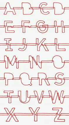 Red String Alphabet (The Red String of Fate project) - Jon Newman  #typography #design