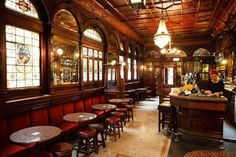Irish Pub Decor | Irish pub Design Dublin Victorian Pub-The Stags Head | English pub