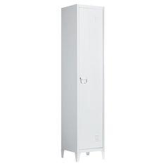 VAN 80,- VOOR 60,- Metalen lockerkast wit. 38x38x180 cm (lxbxh). Deze kast heeft 2 legplanken. #kwantum #nuofnooit