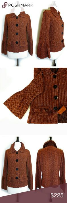 Willow Burnt Orange Bell Sleeve Coat Jackey Like new. By Willow from Anthro. May still decide to keep. Feel free to make an offer. See comments for more info. Anthropologie Jackets & Coats
