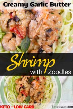 Get ready to impress yourself with a restaurant-quality keto-friendly low carb recipe the whole family will love. Ready to see how easy this recipe is? Buttered Shrimp Recipe, Garlic Butter Shrimp, Low Carb Shrimp Recipes, Chicken Recipes, Easy To Make Dinners, Spiralizer Recipes, Scallop Recipes, Shrimp Dishes, How To Cook Shrimp