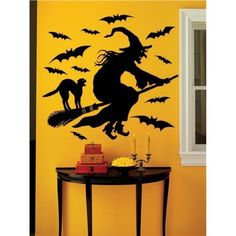 witch silhouette decal - Google Search