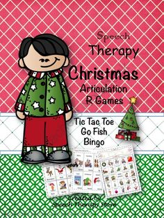 Speech Therapy Christmas Articulation R Games from Speech Therapy on TeachersNotebook.com -  (37 pages)  - Articulation Christmas