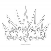 Printable Princess Crown Freeprintable Printables 1 Pinterest Template And