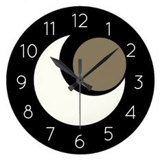 Space Wall Clock Numbered - modern gifts cyo gift ideas personalize