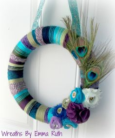 Peacock Yarn Wreath by ozlem.yildirim