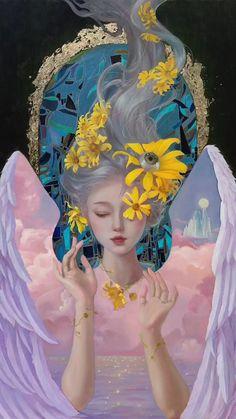 Canvas Painting Tutorials, Diy Canvas Art, Wow Art, Cool Art Drawings, Acrylic Art, Art Plastique, Art Tutorials, Cute Art, Amazing Art