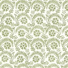 Rossi Tuscan Print Paper - Green Floral Stencil