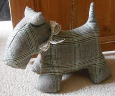 Tweed Scotty Dog Doorstop