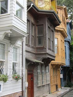 Wooden houses . Istanbul