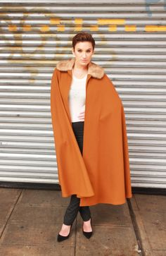 Get your cape on with this Yves Saint Laurent vintage gem! xx VV Check out Late 1970s Yves Saint Laurent cape here:http: http://www.1stdibs.com/fashion/clothing/coats-outerwear/yves-saint-laurent-cape/id-v_158132/ #cape #vettavintage #yvessaintlaurent