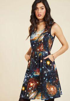 #AdoreWe #ModCloth Dress - ModCloth Heart and Solar System A-Line Dress - AdoreWe.com