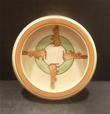 """Roseville Juvenile Rolled Edge Bunny Plate 6 1/4"""" - MINT - UNUSUAL"""