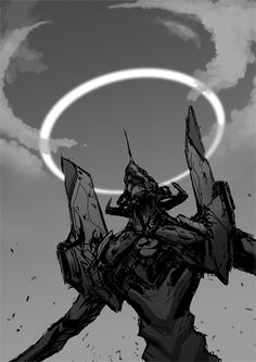 Eva 01 with halo (by ~NuMioH)