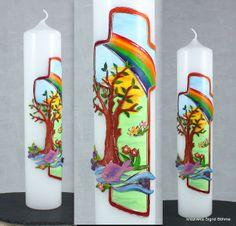 Taufkerze mit Landschaft DW 312 von  Kerzenkunst -  Kreatiwita auf DaWanda.com
