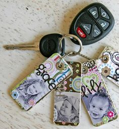 DIY Photo Key Chains for Mom #myperfectmothersday