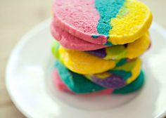 Tie-Dyed Cookies : A sure hit among the little ones, these sugar cookies are given a colorful upgrade using a kid-friendly recipe.  Source: Baked Bree