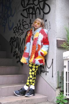 Colorful coat, Harajuku, Nov. 19, 2013.