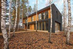 Нестандартный дом кубической формы в Красноярске - СибДизайнер.ru