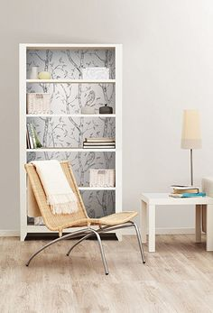 "NuWallpaper ""Gray Woods"" Peel and Stick-Carta da parati: Amazon.it: Casa e cucina"