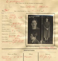 Eugenia Falleni - convicted murderer   NSW State Archives