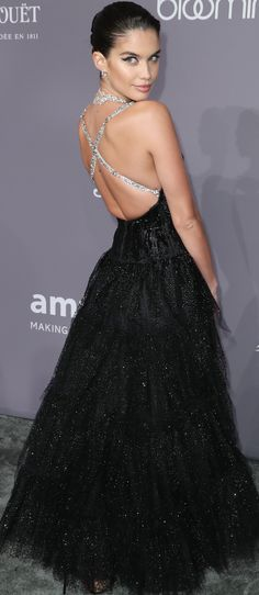 Sara Sampaio RC Look In Armani Privé S/S '06 Attending at amfAR Gala In NY City On Feb' 7th, '18.
