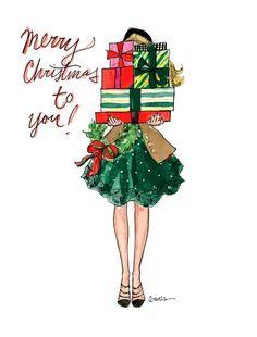 Christmas Wallpaper Illustration Xmas Ideas For 2019 Noel Christmas, Winter Christmas, Vintage Christmas, Christmas Crafts, Christmas Decorations, Christmas Fashion, Winter Fashion, Christmas Girls, Holiday Decor