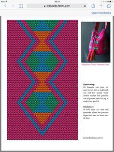 Wayuu Mochila pattern and bag Tapestry Crochet Patterns, Crochet Stitches Patterns, Weaving Patterns, Knitting Patterns, Boho Tapestry, Tapestry Bag, Crochet Case, Crochet Purses, Simple Embroidery