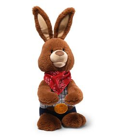 Only $11.99 marked down from $40!! Joe Bunny Animated Plush Toy by GUND #joe #easter #bunny #cowboy #country #redneck #baby #gift #sale #zulily #plush #toy #zulilyfinds